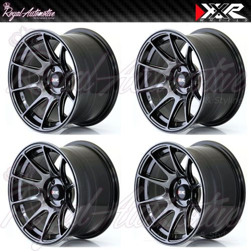 XXR 527 Concave Alloy Wheels 16x8.25 ET0 5x100 5x114.3 Chrome Black JDM JAP Euro